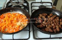 Теплый печеночный салат с морковкой и тыквой, рецепт с фото