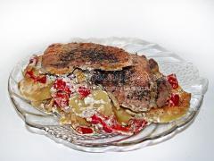 Рецепт свиных отбивных с картофелем и болгарским перцем