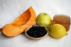 готовим тыквы, яблоки, мед, сухофрукты