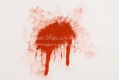 рисуем подтеки крови
