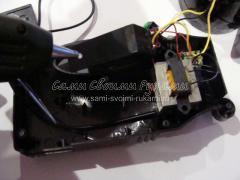 Ремонт упавшего фонаря на аккумуляторе