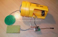 Ремонт аккумуляторного фонаря с разгерметизированной батареей