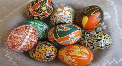 Роспись пасхальных яиц, техники, картинки
