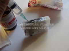 Прочистка картриджей системы бесперебойной подачи чернил