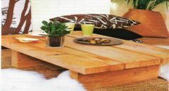 Кофейный столик делаем из дубовых досок