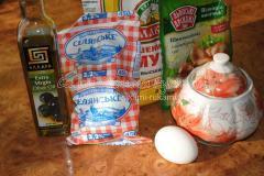 ингредиенты для рецепта сосисек в тесте