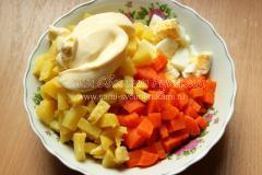 остудить овощи