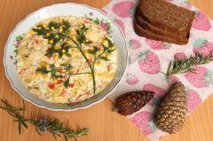 Рецепт салата Мимоза из кефали