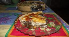 Грибной пирог, рецепт с лисичками и рецепт с шампиньонами