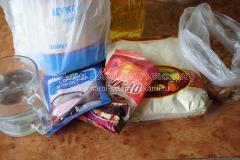 Ингредиенты для постного манника с шоколадом