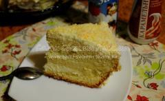 Бисквитный торт со сметанно-сливочным кремом в мультиварке