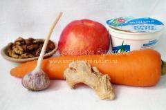 Рецепт морковного салата с имбирем и грецким орехом