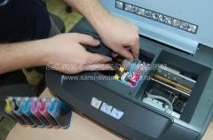 Установка блока в принтер