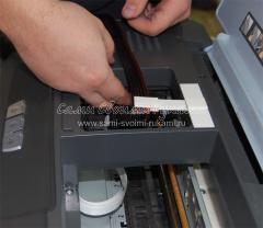 Установка СНПЧ системы на принтер
