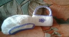 Беретик для девочки, как связать крючком и сумочка