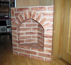 декорация камина из картона