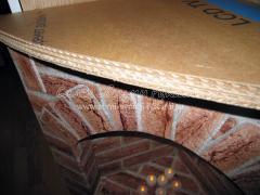 Крыша картонного камина