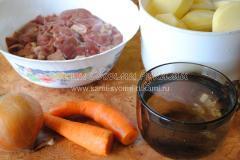 Ингредиенты для тушеного картофеля