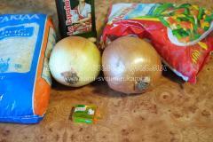 Ингредиенты для приготовления овощного ризотто