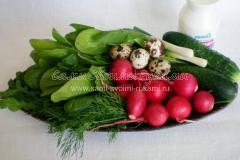 Ингредиенты для редисного салата