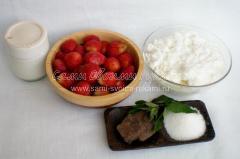 Ингредиенты для творога с клубникой
