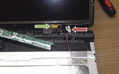 Замена ЖК матрицы ноутбука
