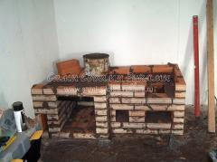 Как построить печь с плитой и духовым шкафом