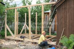 Возведение каркаса - основной этап строительства бани.  На практике удобным вариантом признано изготовление каркаса...