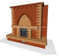 Строю камин из кирпича своими руками, проект Барин
