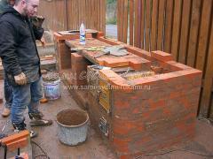 Строю печь Барбекю из кирпича на даче
