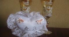 Свадебная подушка для обручальных колец