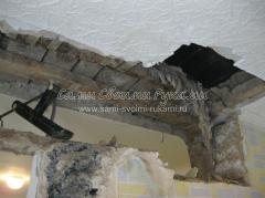 Страховка от обвала потолка домкратом