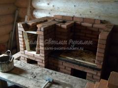 Печь для дачи с духовкой и варочной панелью