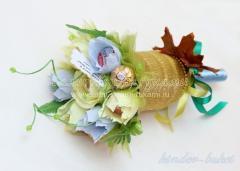 Цветы из конфет своими руками, конфетные букеты