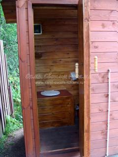 готовый каркасный туалет на даче