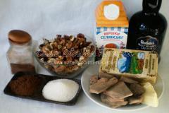 Ингредиенты для приготовления трюфелей