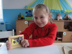 Картина из соленого теста - Мышонок с сыром - мастер класс, фото.