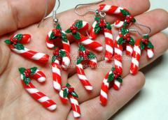 сережки леденцы новогодние