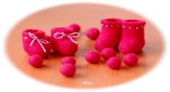 Декоративные валеночки из шерсти
