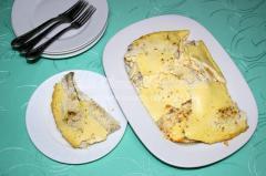 рецепт запеченной нототении с творогом и яйцами