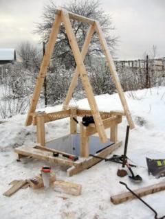 Деликатная тема или как я строил на даче деревянный туалет