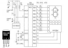 Делаем простой термометр на микроконтроллере