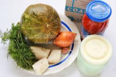 продукты для тыквы с салом