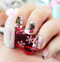рисунок на ногтях на новый год