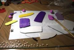 Цветочные серьги-шары из запекаемой полимерной глины