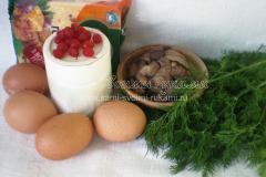 Ингредиенты для яичных елочек