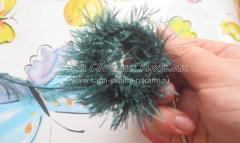 Как связать рождественский венок крючком