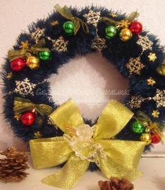 как связать рождественский венок