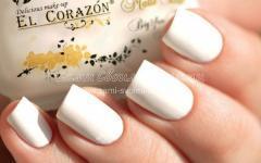 покрыть ногти белым лаком