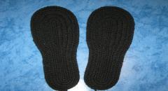 Тапочки вязанные крючком